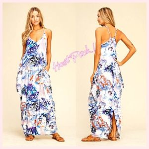 SALE !  NWT Floral Maxi Stretch Tulip Dress  S